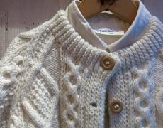 Athena Design / Hand Knit Crew Cardigan