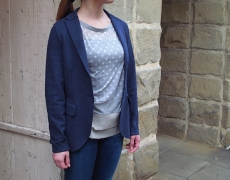 HARRIS WHARF LONDON 2B Interlock Blazer