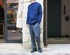 ANDERSEN-ANDERSEN / SAILOR SWEATER CREW NECK / FULL ZIP POCKET