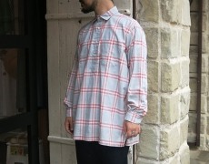 INDIVIDUALIZED SHIRTS / 別注 CHECK P/O LONG SHIRTS / LIGHT GREY