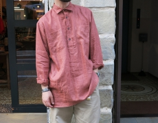 INDIVIDUALIZED SHIRTS / 別注 LINEN P/O LONG SHIRTS / RUST