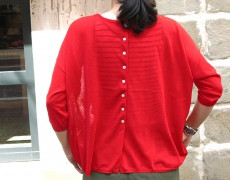STAMP AND DIARY / SWISS COTTON 2WAY CARDIGAN