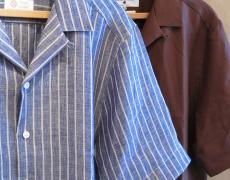 James Mortimer / Irish Linen Open Collar Shirt