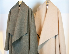 HARRIS WHARF LONDON / blanket coat / loden coat