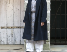 Honnete / Shawl Collar Wide Coat
